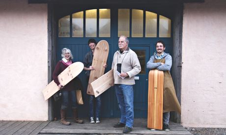 Otter bellyboard making workshop in Porthtowan Beach, Cornwall