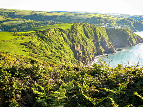 Southwest coast path, Exmoor, Devon
