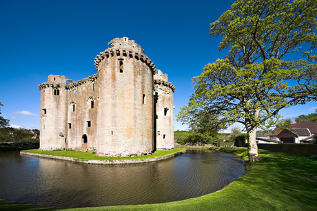 Nunney Castle and Moat, Somerset