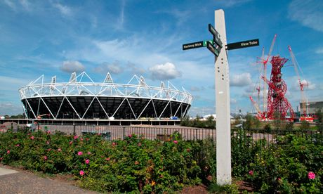 Signpost at the Olympic Park