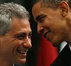 Barack Obama with Rahm Emanuel