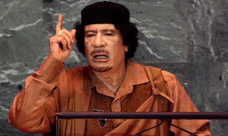 Muammar Gaddafi Libyan leader warns protesters