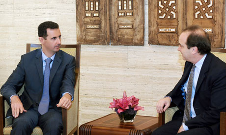 President Bashar al-Assad meets Brooks Newmark MP in Damascus