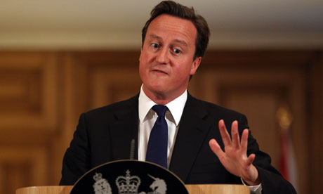 Prime minster David Cameron speaks on the News of the World scandal