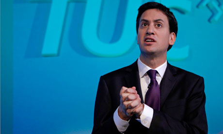 Labour Party leader Ed Miliband speaks at the TUC conference